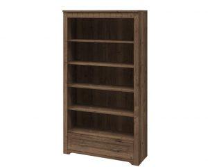 Шкаф книжный высокий TIROL 16 Dub halifax tabak