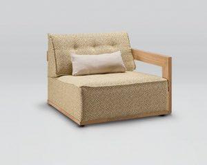 Кресло Nida с одним подлокотником L/R