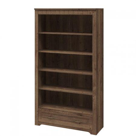 Шкаф книжный высокий TIROL 16 Dub halifax tabak (2)
