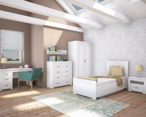 Кровать TIROL white  90