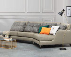 Угловой диван VYTIS с полкой